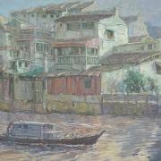 4-Melaka River, 2009RM 13,200.00-SOLD |Oil on canvas | 75 x 90 cm