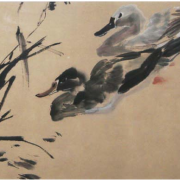 1-Two Ducks, Undated RM 16,500.00-SOLD | Ink on paper | 33.5 x 43.5 cm