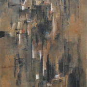 3-Untitled (Water Kampung Night), 1961 RM 137,500.00-SOLD | Ink and colour on paper | 91 x 45 cm