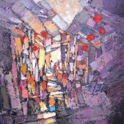 2-Sunset, 2009 RM 7,700.00-SOLD | Oil on canvas | 80 x 60 cm