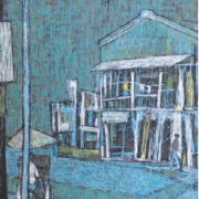 1-Street Scene, 1995 RM 6,600.00-SOLD | Oil on canvas | 68 x 49.5 cm