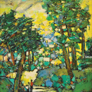 5-Strolling in the Park, 2003 RM 7,280.00-SOLD | Oil on canvas | 73 x 58.5 cm