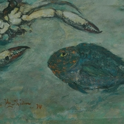 13-Seafood, 1974 RM 7,840-SOLD | Oil on board | 40.8 x 66 cm