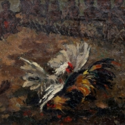 1- Cock Fight, 1967RM 36,300.00-SOLD | Oil on canvas | 54 x 72.5 cm