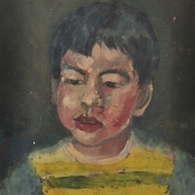 Chuah Siew Teng %22Portrait of a Boy%22 (1975) Oil on canvas 38 x 28.5cm RM 1000 - 2500