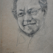 5-Chuah-Siew-Teng-Tun-Mahathir-2004-Charcoal-on-Paper-26.5cm-x-20.5cm