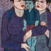 Chuah-Thean-Teng-Dato-The-Mothers-and-The-Child-1970's-Batik-92-x-60-cm