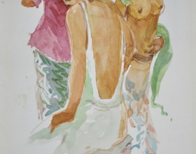 10-Khalil Ibrahim. Bali Nude Series (2007) Watercolour on Paper 21cm X 30cm