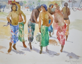 13-Khalil Ibrahim. East Coast Series (2004) 21cm x 30cm Watercolour on Paper