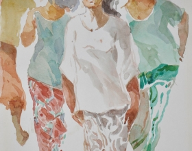 15-Khalil Ibrahim. East Coast Series (2007) 21cm X 30cm Watercolour on Paper