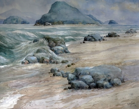 31-Mokhtar Ishak. Imaginary Seascape (2008) 50 cmx 70cm watercolour on paper