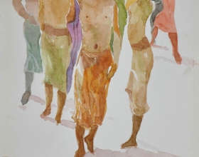 9-Khalil Ibrahim. Bali Nude Series (2006) Watercolour on Paper 21cm x 30cm
