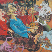 RM 7,700.00-SOLD Lot 83 Faizin (b. Indonesia, 1973) The Dalang, 2008 Oil on canvas I 103 x 123 cm RM 9,000 - 11,000