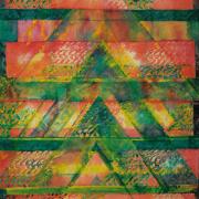 """2-RM 9,350.00-SOLD Fatimah Chik """"Gunungan Series"""" (1999) Batik 89cm x 65cm"""