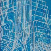 4-Kebaya Series - Blue, 2006 RM 8,250.00-SOLD | Batik | 90.5 x 65 cm