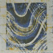 5-Kebaya Series - Putih Biru, 1999 RM 2,750.00-SOLD | Batik | 46 x 41 cm