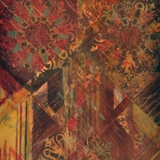 7-Untitled, 2001 RM 1,650.00-SOLD | Mixed media batik collage | 53 x 43.5 cm