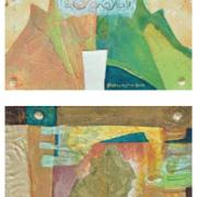 Reforestation Lot 11 Fauzin Mustafa, Reforestation #7 and #33, 2001, Mixed media on canvas 30 x 30 cm
