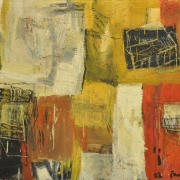 6-Cage No. 5, 2002 RM 4,950.00-SOLD   Oil on canvas   77 x 92 cm