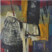 2-Cage - No 11, 2003 RM 7,150.00-SOLD | Oil on canvas | 92 x 92 cm