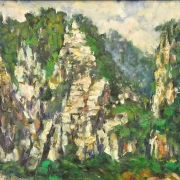 2-Batu Caves, 1994 RM 4,480.00-SOLD | Oil on canvas | 38 x 48 cm