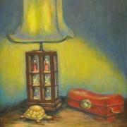 Lamp, 2006 RM 3,000 - RM 5,000-AVAILABLE | Oil on canvas | 44 x 37 cm