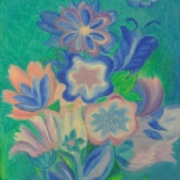 1-The Garden, 1969 RM 4,950.00-SOLD | Oil on canvas | 121 x 60 cm