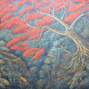 Lot 29-Haji-Widayat-'Pohon-Flamboyan'-1991-Oil-on-canvas-150-x-224cm
