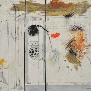 Invisible-Cage-Grid, 2000 RM 8,250.00-SOLD | Mixed media on canvas | 107 x 132 cm