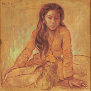 "RM 12,320-SOLD Lot 8 Han Snel ""Balinese Girl"" (1956) Oil on Canvas 59CM X 59CM"