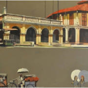 1-Muslim Shrine - Penang, 1999 RM 8,800.00-SOLD | Mixed media on canvas | 67 x 105 cm