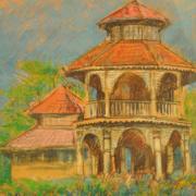 6-Nostalgia Ingatan III & IV, 1994 RM 3,300.00-SOLD | Pastel on paper | 40 x 27 cm x 2 pieces
