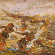Balinese Fishermen, Undated RM 11,000.00-SOLD | Oil on canvas | 99 x 219 cm