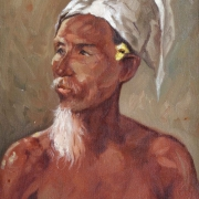 Portrait of a Balinese Man, Undated RM 5,500.00-SOLD | Oil on canvas | 57 x 39 cm