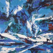 Untitled, 2002 RM 4,500 - RM 7,000-AVAILABLE | Oil on canvas | 91.5 x 91.5 cm