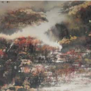 1-Autumn Shore, 2005RM 80,300.00-SOLD | Ink and colour on paper | 50.8 x 142.4 cm