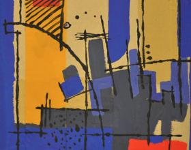 "34-Frank Woo ""City Life, City Lookout Series - Sunlight II"" 35.5 x 36 cm"