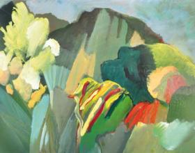 "40-Raphael Scott Ahbeng ""Bukit Brooke"" (2010) 30 x 45.5 cm Oil on Board"