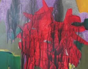 "47-Raphael Scott Ahbeng ""Good Earth"" (2002) Acrylic on canvas, 91 x 60 cm"