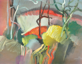 """49-Raphael Scott Ahbeng """"Ingkarat Somu"""" 31 x 45 cm Oil on Board"""