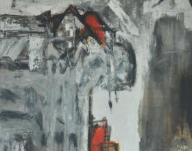 "5-Awang Damit Ahmad ""Iraga"" (2008) Mixed media on canvas, 203 x 172.5 cm"