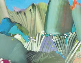 "50-Raphael Scott Ahbeng ""Kee Valley"" 31 x 45.5 cm Oil on Board"
