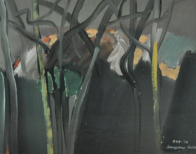 "52-Raphael Scott Ahbeng ""Lonesome Hollow"" (2012) OIl on board, 30cm x 45cm SOLD"