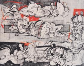 62-Zulkifli Yusoff, Teenagers Dream, 1997,Acrylic on Canvas, 152 x 152 cm