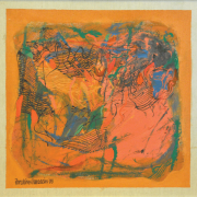 1-Coddle, 2003 RM 41,800.00-SOLD | Mixed media on canvas | 40 x 40 cm