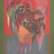 12-Bird, 1975 RM 264,000.00-SOLD | Acrylic on canvas | 98.5 x 60.5 cm