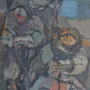 7-Untitled, 1960s RM 39,600.00-SOLD | Oil on board | 41 x 16.5 cm