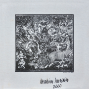 "8-Untitled, 1996 ibrahim Hussein ""Ramayana"" (1998) pen on cloth, 42 x 42 cm"