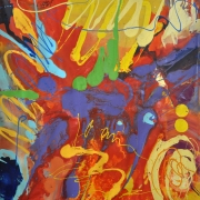 Ismadi Sallehuddin xxx, 2015 Mixed media on canvas 154 x 150 cm