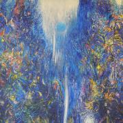 11-Waterdance …Blue Night Dreams, 1999 RM 60,500.00-SOLD   Acrylic on canvas   140 x 180 cm